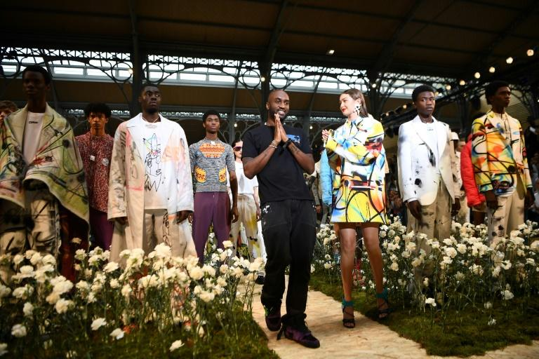 Let a thousand flowers bloom: Hyperactive US designer Virgil Abloh (centre) creates for both his own Off-White and Louis Vuitton's men's line