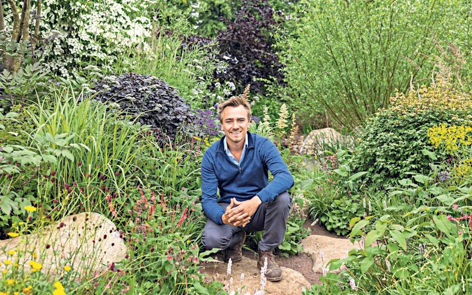 Jamie Butterworth takes a break from his RHS Garden for a Greener Future at Hampton Court Palace Garden Festival this week - Heathcliff O'Malley