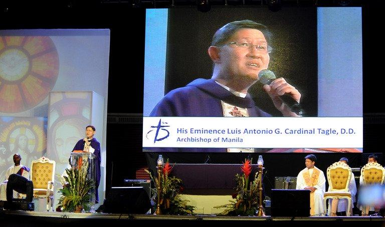 The Archbishop of Manila, Cardinal Luis Antonio Tagle, pictured in Manila, on February 16, 2013