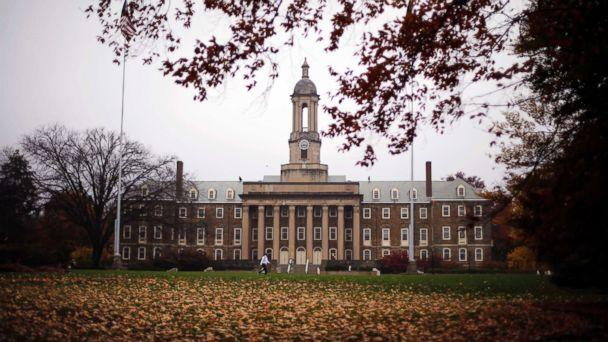 PHOTO: Old Main on the Penn State main campus in State College, Pa., is pictured Oct. 28, 2015. (Gene J. Puskar/AP)