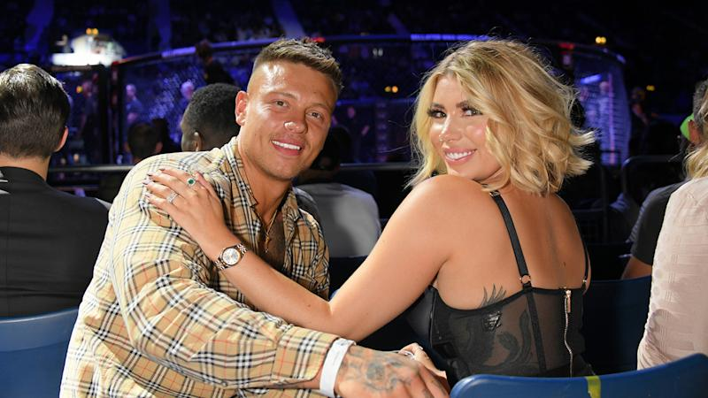 Alex Bowen and Olivia Buckland attend Bellator MMA London at Wembley in June 2019