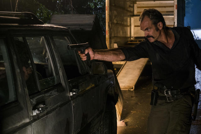 <p>Steven Ogg as Simon in AMC's <i>The Walking Dead</i>.<br>(Photo: Gene Page/AMC) </p>
