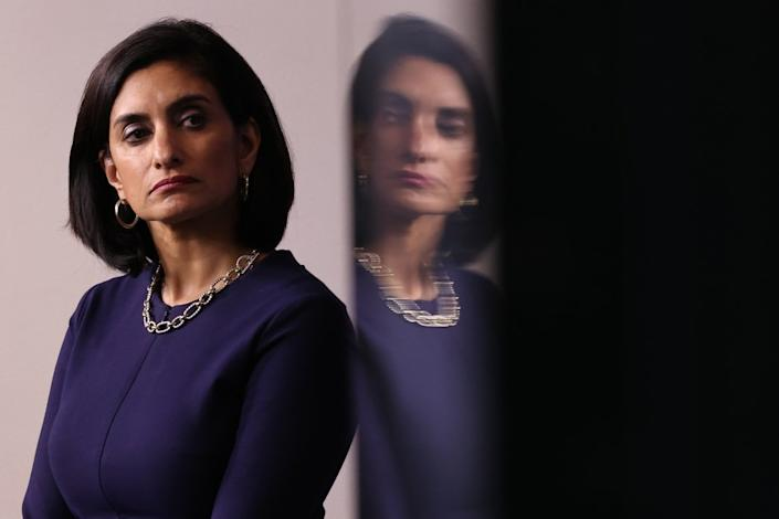 """<div class=""""inline-image__caption""""><p>Seema Verma, administrator of the Centers for Medicare and Medicaid Services</p></div> <div class=""""inline-image__credit"""">Chip Somodevilla/Getty</div>"""