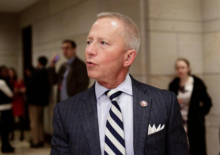 Rep. Jeff Van Drew, D-N.J., arrives for a classified briefing on Capitol Hill in Washington on Jan. 3, 2019. Van Drew, a Democrat who plans to switch and become a Republican, has said he plans to vote this week against impeaching President Donald Trump.