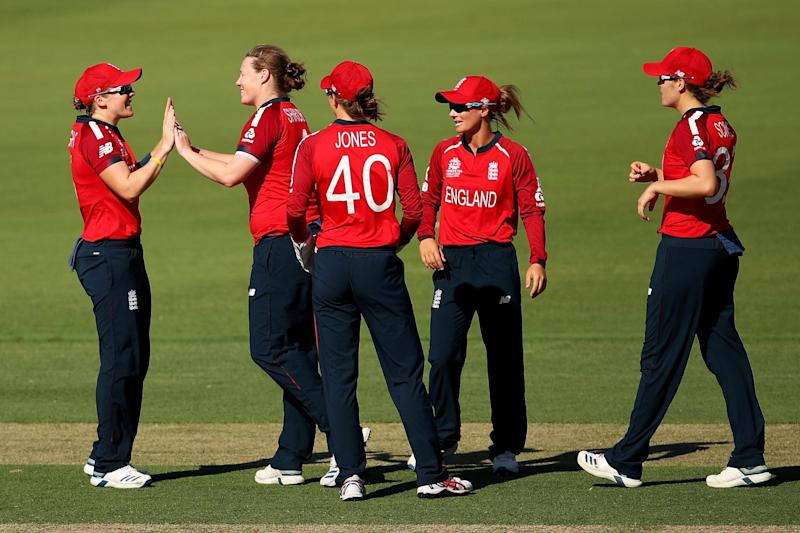 Anya Shrubsole took three wickets for England at the Manuka Oval (Getty Images)