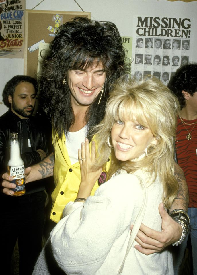 """<p>Big hair was a reaction to the natural, bohemian styles of the hippie era and a big screw you to the ozone layer. It looked equally """"bad"""" on women and men. (Remember, """"bad"""" was '80s slang for """"good."""") The proof was ultimate power couple—Motley Crue drummer Tommy Lee and pinup poster-girl Heather Locklear—although Whitesnake's David Coverdale and Tawny Kitaen were no slouches.</p>"""