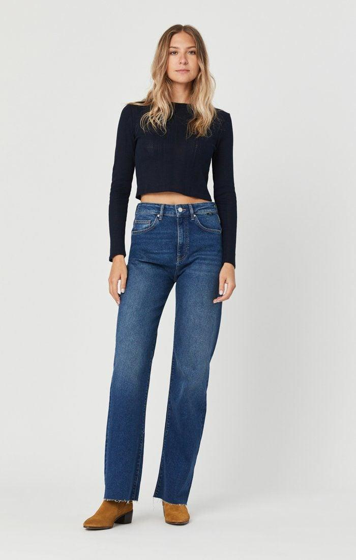 """<p>""""These <span>Mavi Victoria Dark '90s Jeans</span> ($83, originally $118) are ridiculously comfortable. Mavi is a denim brand I haven't shopped in awhile, but I'm really liking the idea of buying jeans two sizes up. These are also so stretchy, they feel like sweatpants. They're the perfect oversize mom jean in a light wash."""" - Sarah Wasilak, editor, Fashion</p>"""