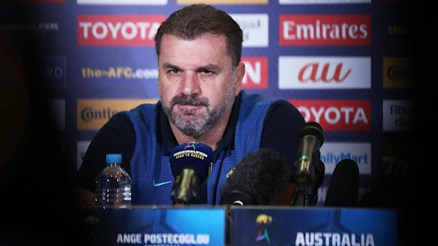 Ange Postecoglou insisted he is solely focused on guiding Australia to the 2018 World Cup amid speculation of a possible move to Rangers.