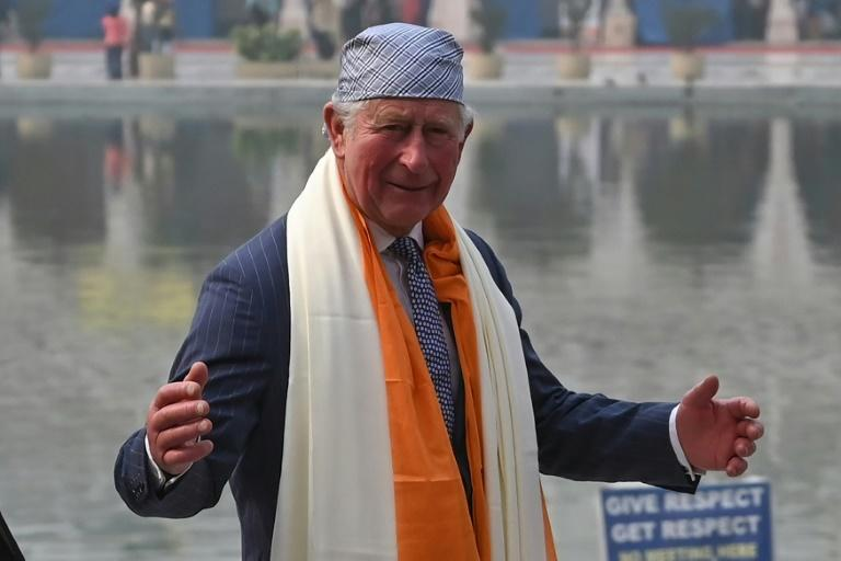 Britain's Prince Charles is visiting New Delhi on a day the Indian capital's pollution has reached 'emergency' levels