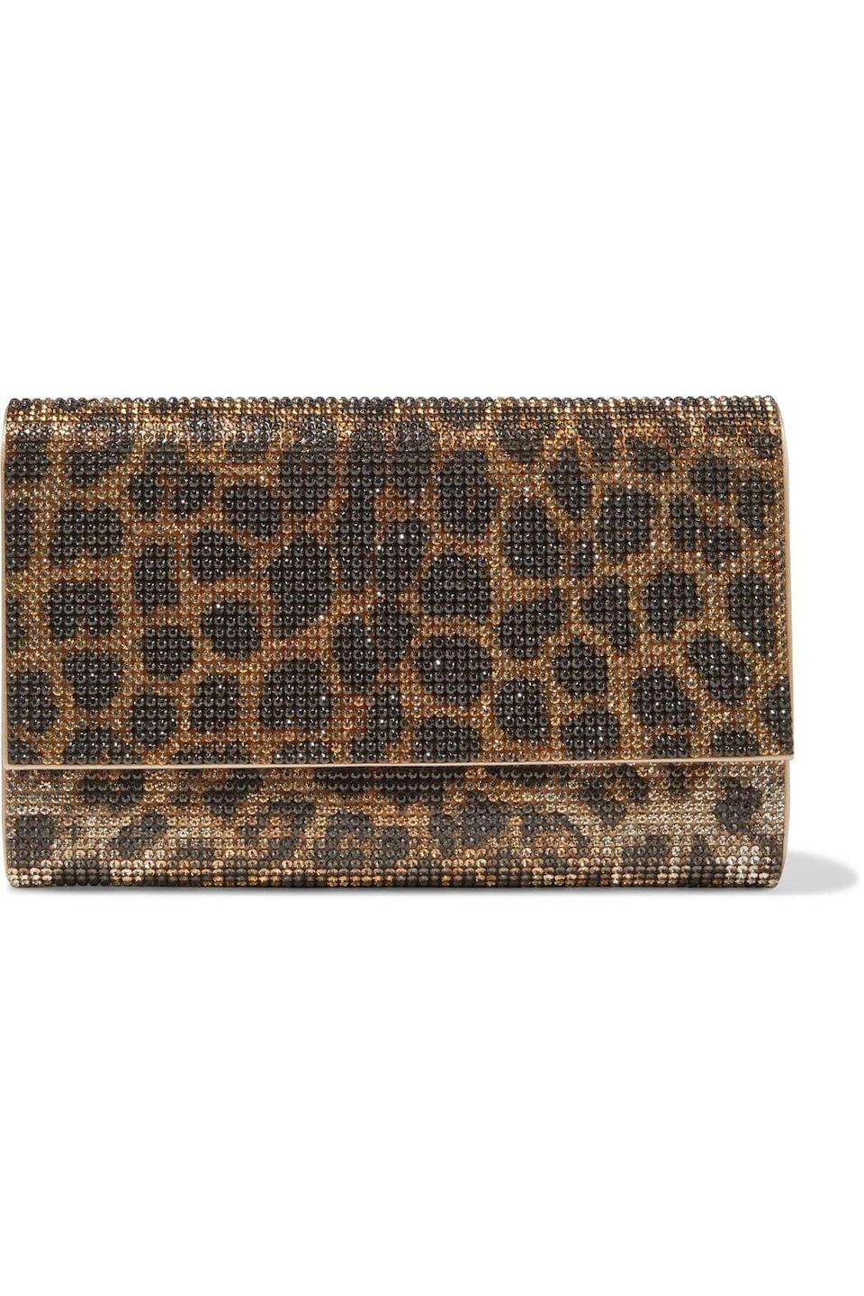 <p>The <span>Judith Leiber Animal Print Crystal Satin Clutch</span> ($648, originally $1,295) is something Kris Jenner, who is a Judith Leiber connoisseur, would love!</p>