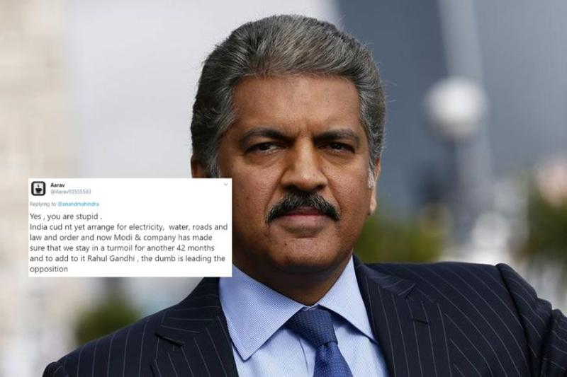 Anand Mahindra Had the Most Epic Response to Twitter User Who Called Him 'Stupid'