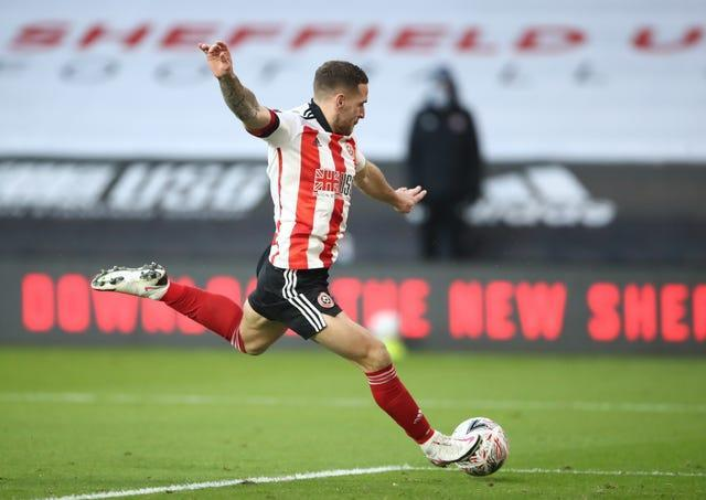 Billy Sharp scores Sheffield United's second goal against Plymouth