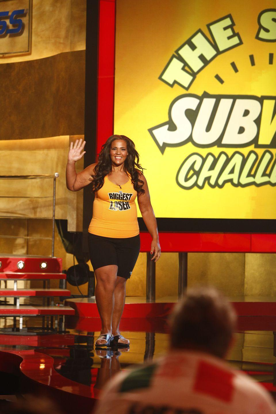 <p>Shay ended up losing 172 pounds by the show's finale, which was 36 percent of her body weight. She was later challenged to try to lose even more weight by the end of season 9—and she dropped an additional 52 pounds.</p>