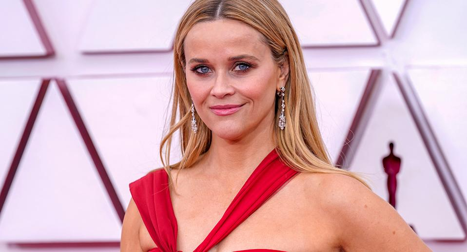 Reese Witherspoon wore this cult foundation at the 2021 Oscars. (Getty Images)