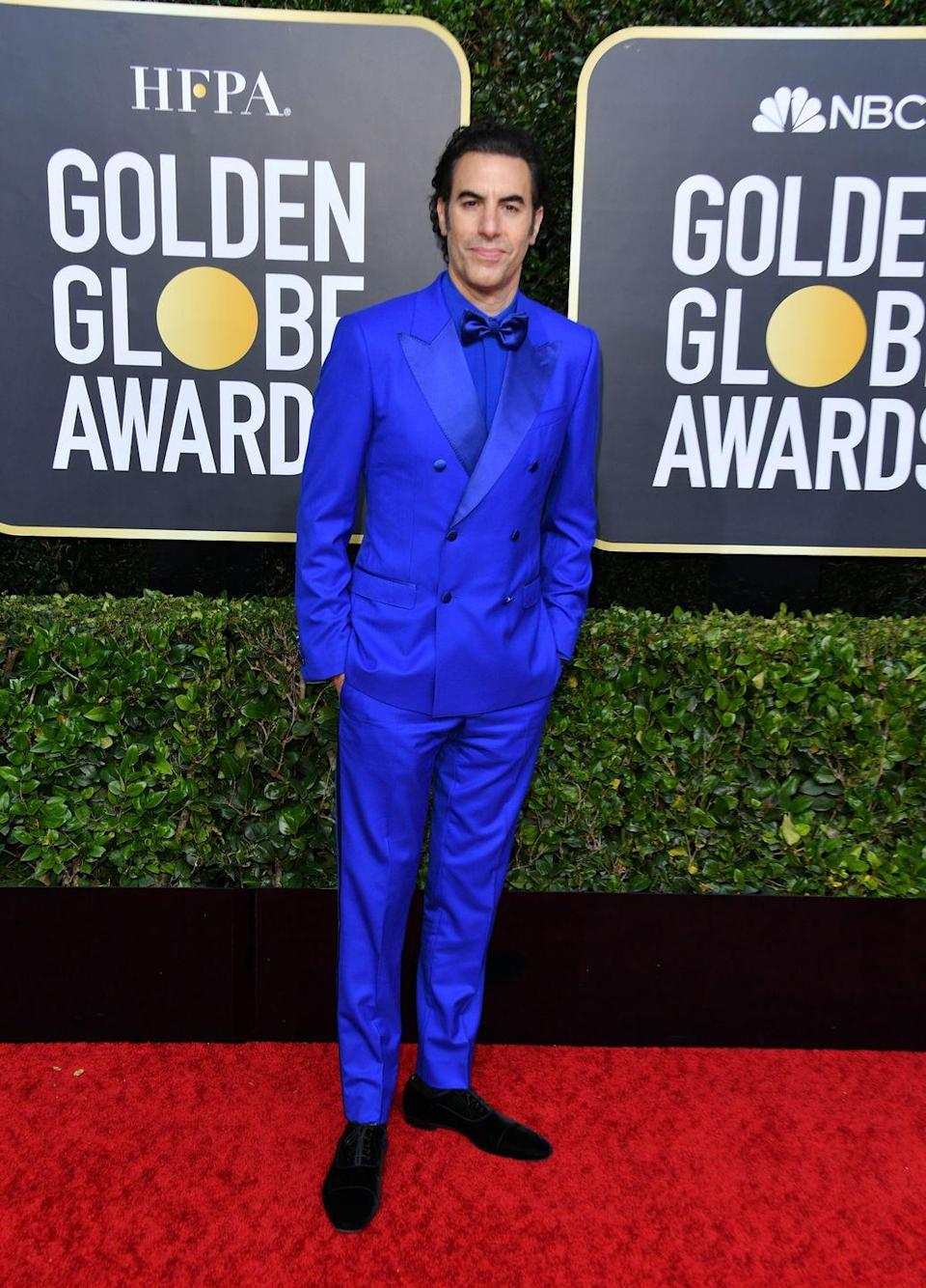 "<p>Height: 6'3""</p><p>Next to his wife Isla Fisher, he can look like a giant. But now I'm thinking it might just be anybody he stands next to...</p>"