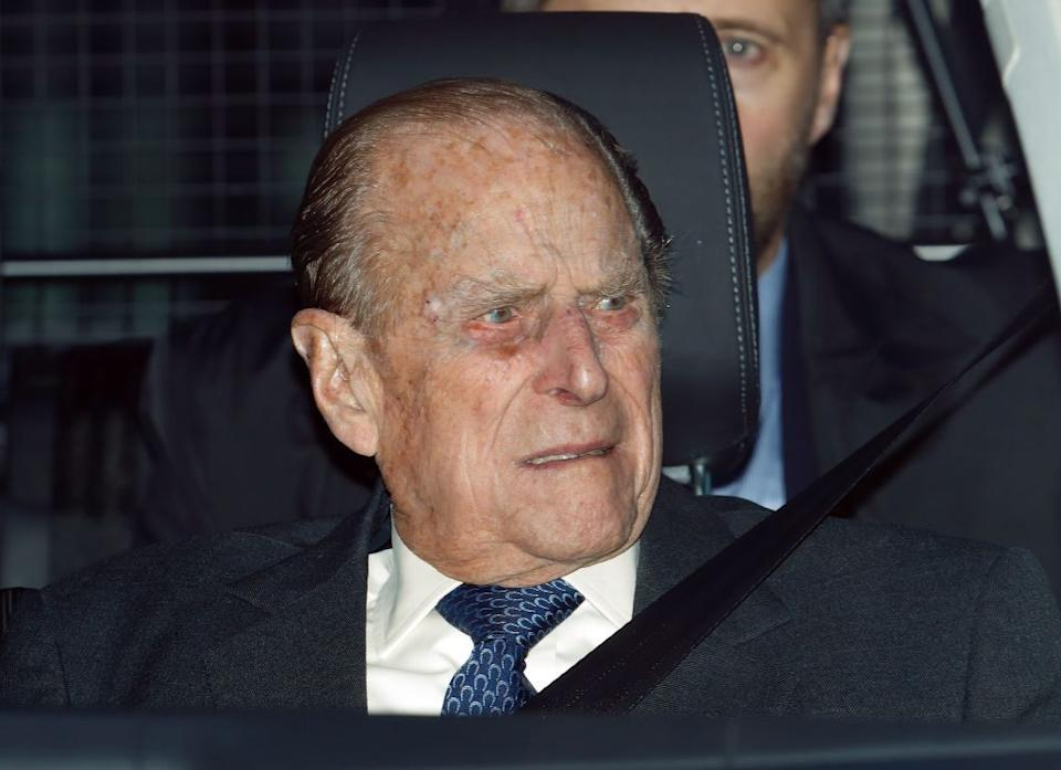 Prince Phillip in car as early obit accidentally published by SMH