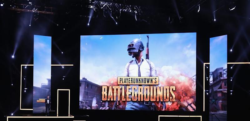 PUBG logo on screen during game announcement.