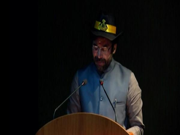 MOS Home G Kishan Reddy speaking at 36th Raising Day of the National Security Guard at Manesar on Friday. [Photo/ANI]