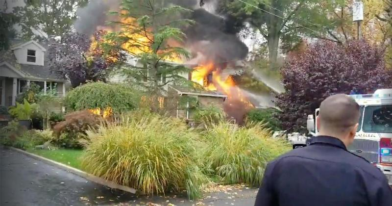 Plane Crashes Into New Jersey Home, Killing Pilot and Sparking Fire
