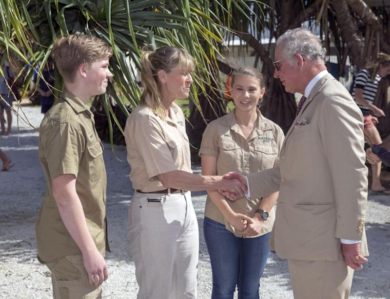 Charles and Terri bonded over their mutual love for conservation. Photo: Getty