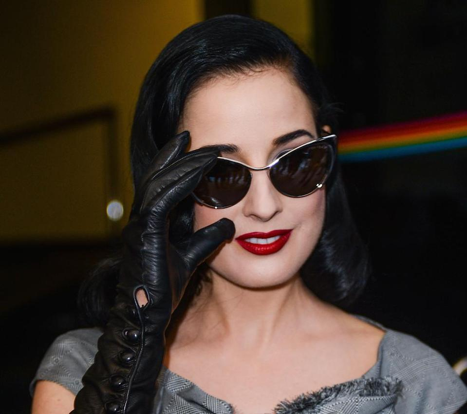 Dita Von Teese is spreading her glamour to us mere mortals by releasing a luxe glove line