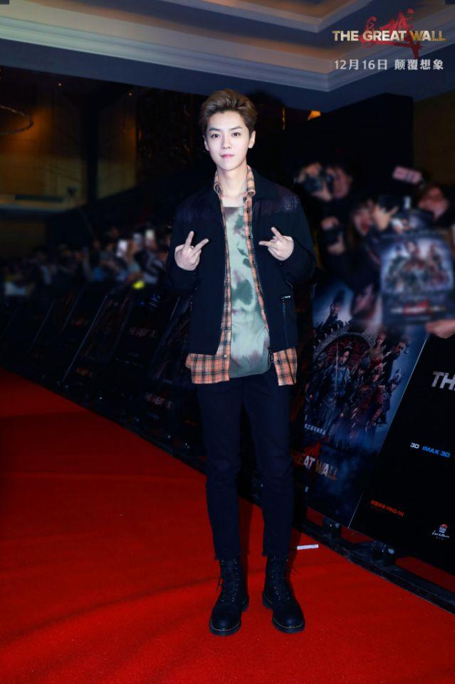 Luhan at the premiere for