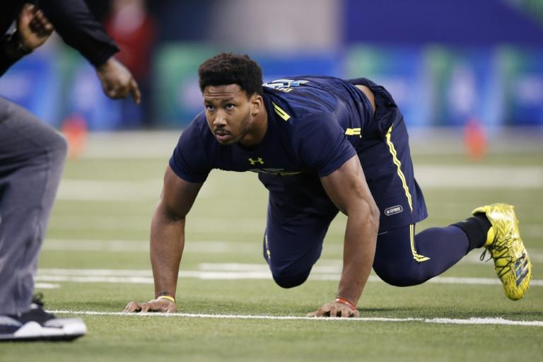 Texas A&M University star defensive end Myles Garrett was the first player chosen in the 2017 NFL Draft as Cleveland bet on him quickly becoming an impact player