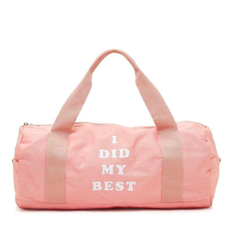 "<i>Buy it from <a href=""https://www.bloomingdales.com/shop/product/ban.do-work-it-out-gym-bag-i-did-my-best?ID=2489604&CategoryID=3865#fn=ppp%3Dundefined%26sp%3D1%26rId%3D15%26spc%3D582%26cm_kws%3Dtote%20bag%26spp%3D22%26pn%3D1%7C7%7C22%7C582%26rsid%3Dundefined"" target=""_blank"">Bloomingdale's</a> for $35.</i>"