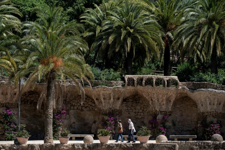 Antoni Gaudi's Park Guell in Barcelona has become a haven for local residents in the absence of tourists (AFP Photo/Josep LAGO)