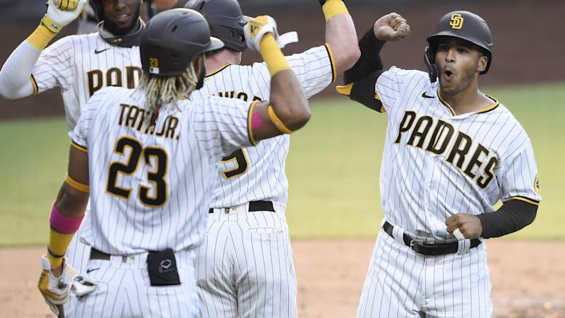 Grisham's three homers fuel Padres rout, Dodgers claim walk-off win
