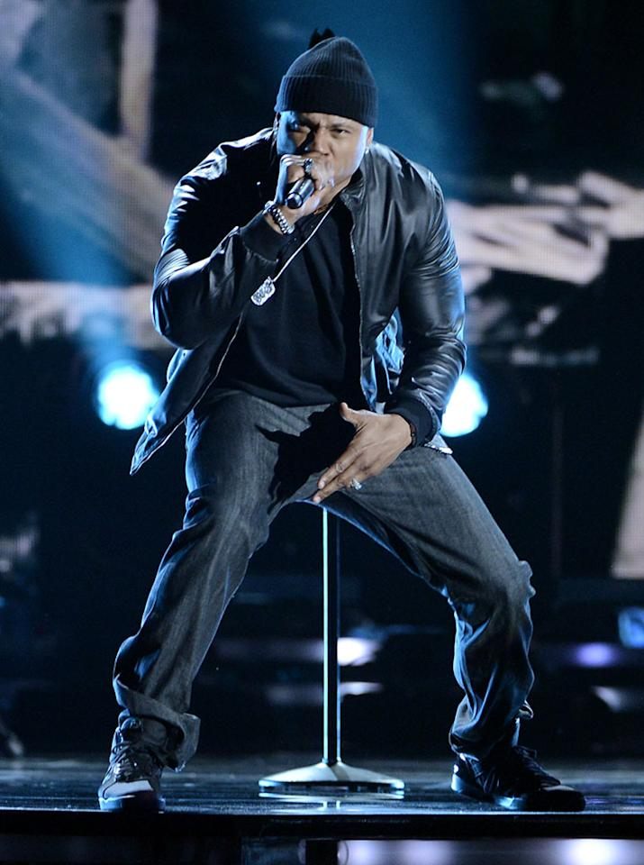 LL Cool J performs at the 55th Annual Grammy Awards at the Staples Center in Los Angeles, CA on February 10, 2013.