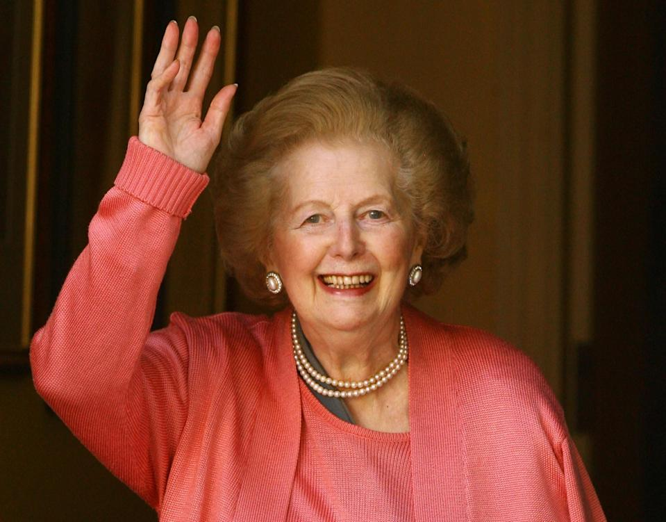 <p>Margaret Thatcher was Britain's first female prime minister. Although a controversial figure, she had an illustrious political career in the Conservative party. She was elected in 1979 and spent three terms in charge, earning much criticism for cutting welfare programs and trade unions. Margaret resigned in 1991 due to unpopularity and dissent within her party. She passed away in April 2013. <i>[Photo: Getty]</i> </p>