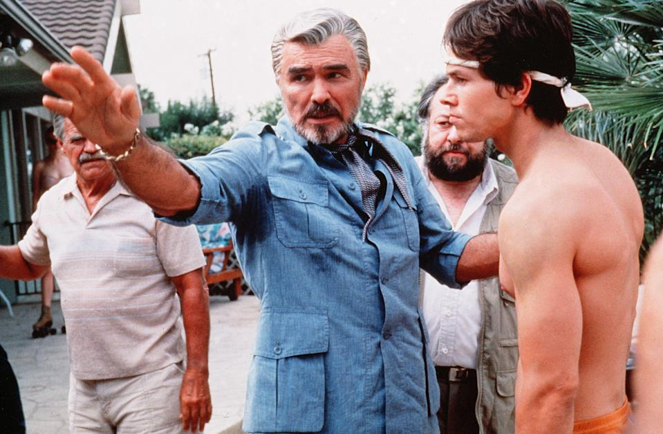 Burt Reynolds returned to the top of the marquees when he was nominated for an Oscar for the first and only time, in 1998, for playing porn director Jack Horner in Paul Thomas Anderson's <em>Boogie Nights</em>.