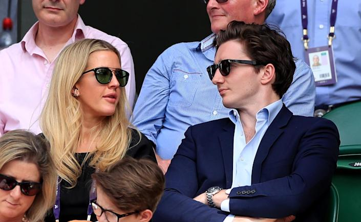 Ellie Goulding and Caspar Jopling announced their engagement in August 2018. (PA)