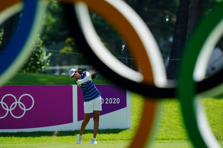 India's Aditi Ashok is tied second after a 67