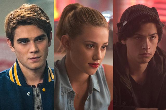 From left, Archie (K.J. Apa), Betty (Lili Reinhart), and Jughead (Cole Sprouse). (Photo: Everett Collection)
