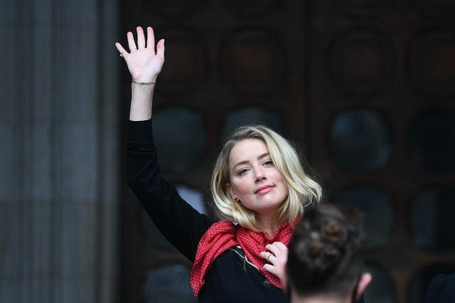 Amber Heard arrives at the High Court