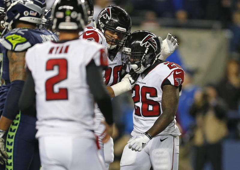 The Falcons' social media team had some jokes on Monday night. (AP)