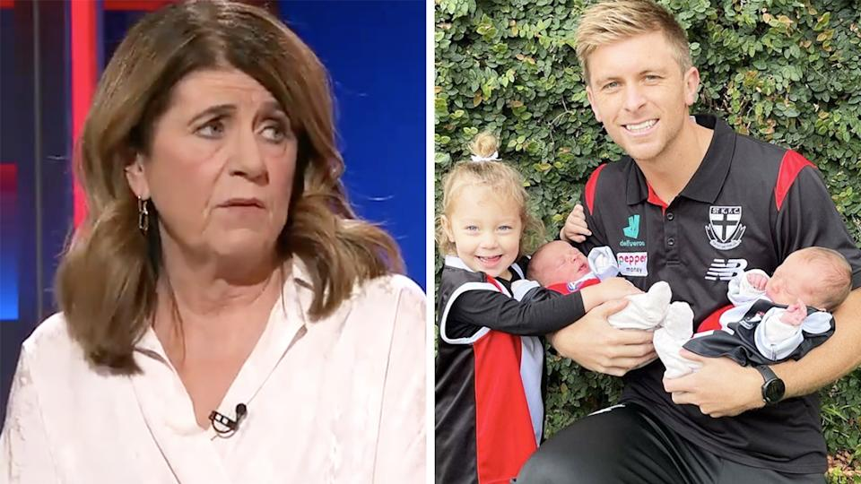Caroline Wilson is standing by her comments criticising two St Kilda players for missing last weekend's match against Adelaide.