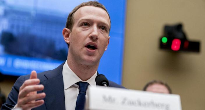 Facebook CEO Mark Zuckerberg testified before a House Energy and Commerce hearing on Capitol Hill in Washington. (AP)