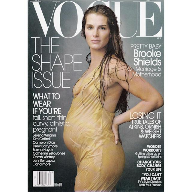 <p>Brooke Shields on the cover of <em>Vogue</em>, 2003 </p>