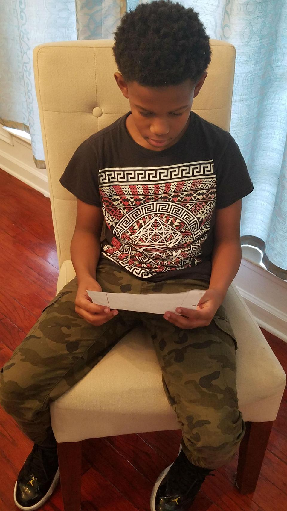 """Charles """"felt helpless"""" when her son read his letters to her. (Photo: Claudia Charles)"""