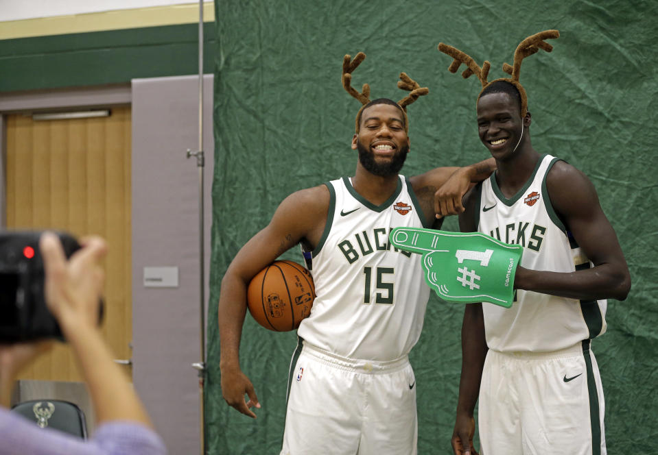 Greg Monroe is listed at 6-foot-11. Thon Maker is a tall man. (AP)