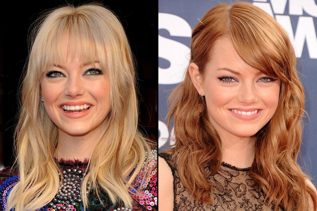 """<a href=""""http://movies.yahoo.com/movie/contributor/1809635883"""">Emma Stone</a>, star of """"<a href=""""http://movies.yahoo.com/movie/1810188970/info"""">The Help</a>,"""" which opens this weekend, gained fame as a redhead but was born a blonde. When she realized that her hair color was hindering her Hollywood career -- she was being typecast as a cheerleader -- she decided to make a change.    """"I just dyed my hair dark brown,"""" she told the """"<a href="""" http://www.independent.co.uk/arts-entertainment/films/features/emma-stone-spidermans-new-girl-2100468.html """">Independent</a>. """"And got my first role a week later, after which I thought: 'People are closed-minded, man! Like a different hair color changes everything!'""""    Judd Apatow told her to go red for """"Superbad,"""" and that's how she stayed through """"The Help."""" Recently though, she went back to blonde to play Gwen Strong for the upcoming """"Spider-Man"""" reboot.    """"I dyed it back as soon as I could to red,"""" she said on a recent """"Conan"""" appearance. """"I walked into my apartment and my friend Max was there, and he said, """"You're a lot funnier as a redhead."""""""