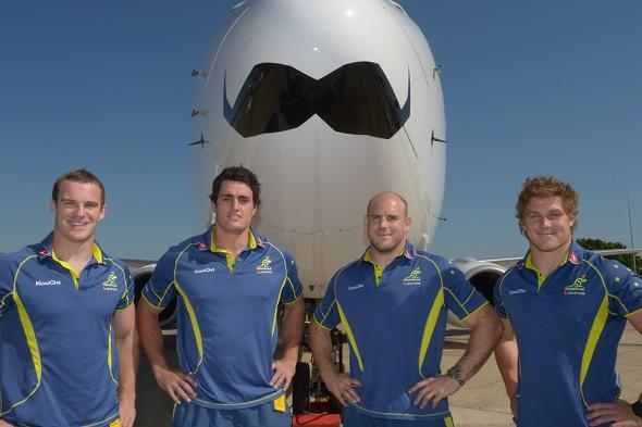 Passenger jets show their support for Movember