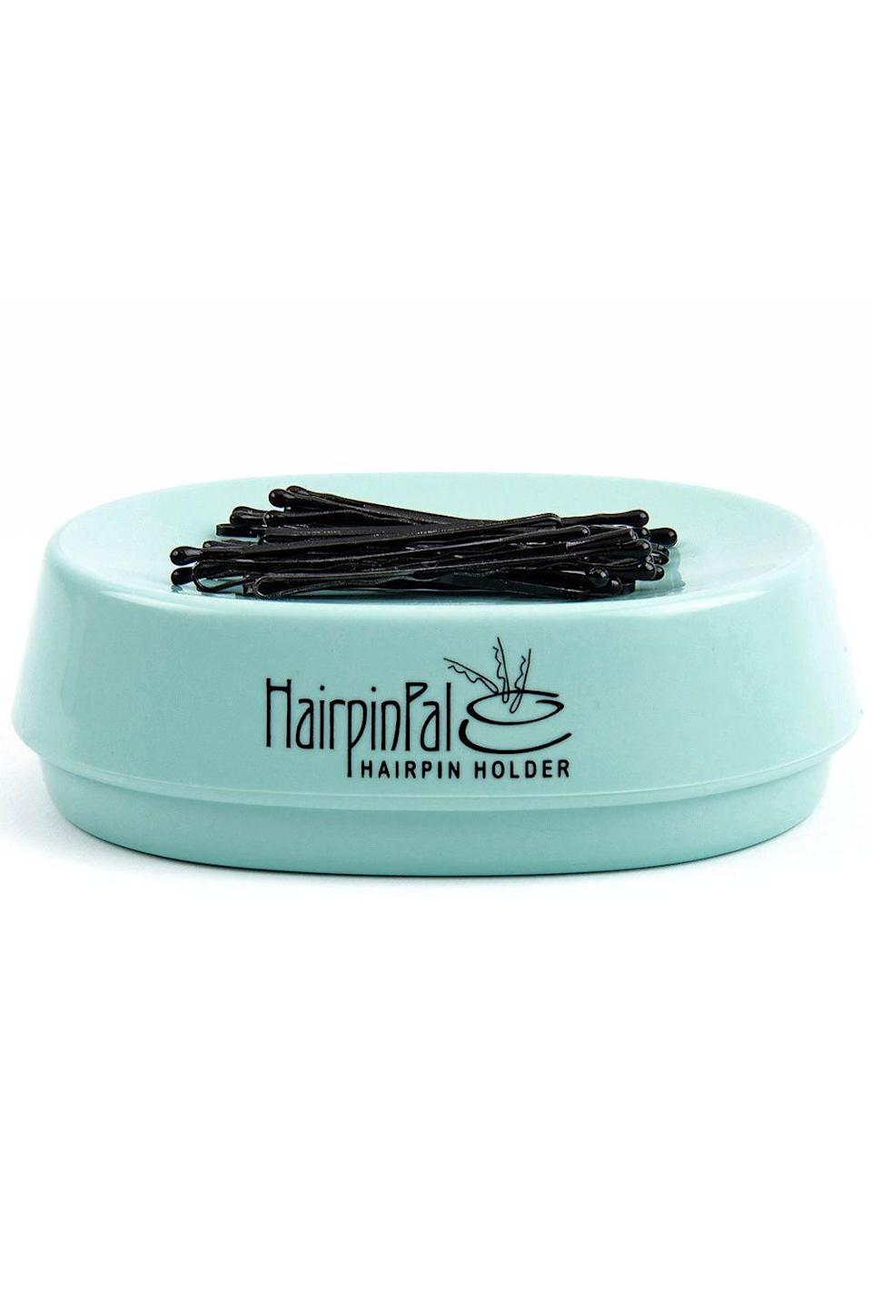 """<p><strong>HairpinPal</strong></p><p>amazon.com</p><p><strong>$14.98</strong></p><p><a href=""""https://www.amazon.com/dp/B00XZCTI7G?tag=syn-yahoo-20&ascsubtag=%5Bartid%7C10049.g.33904719%5Bsrc%7Cyahoo-us"""" rel=""""nofollow noopener"""" target=""""_blank"""" data-ylk=""""slk:shop"""" class=""""link rapid-noclick-resp"""">shop</a></p><p>This lil magnet tray will make sure that your <a href=""""https://www.cosmopolitan.com/style-beauty/beauty/advice/a6123/life-changing-bobby-pin-tricks/"""" rel=""""nofollow noopener"""" target=""""_blank"""" data-ylk=""""slk:bobby pins"""" class=""""link rapid-noclick-resp"""">bobby pins</a> never run off and go missing ever again—as long as you remember to put them back on top of it, of course.</p>"""