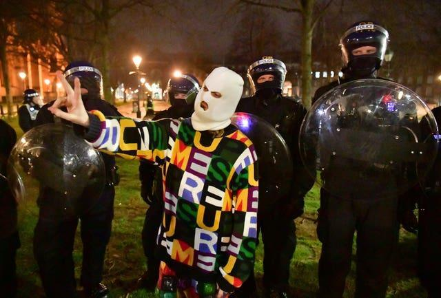 Mutual aid was requested from other police forces (Ben Birchall/PA)