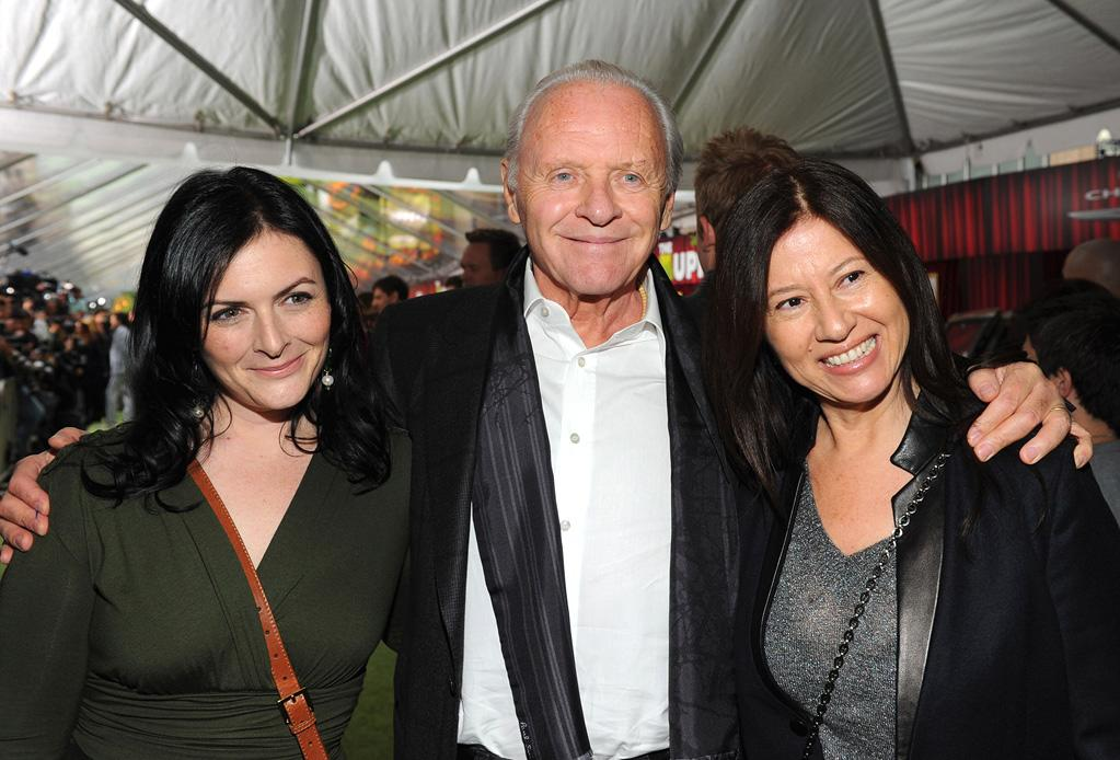 """<a href=""""http://movies.yahoo.com/movie/contributor/1800011674"""">Anthony Hopkins</a> and family at the Los Angeles premiere of <a href=""""http://movies.yahoo.com/movie/1810188975/info"""">The Muppets</a> on November 12, 2011."""