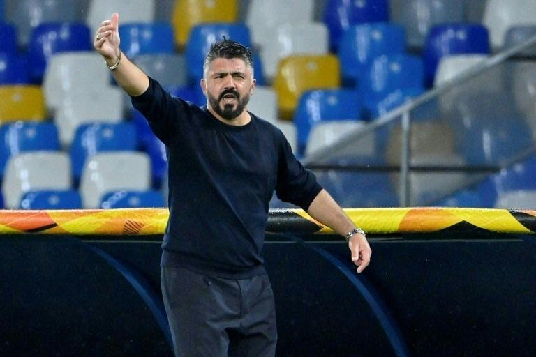 Ex-Milan coach Gennaro Gattuso took over at Napoli in December 2019.