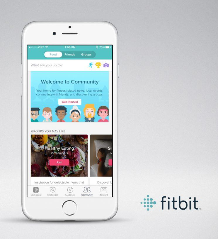 The Fitbit app's Community Feed